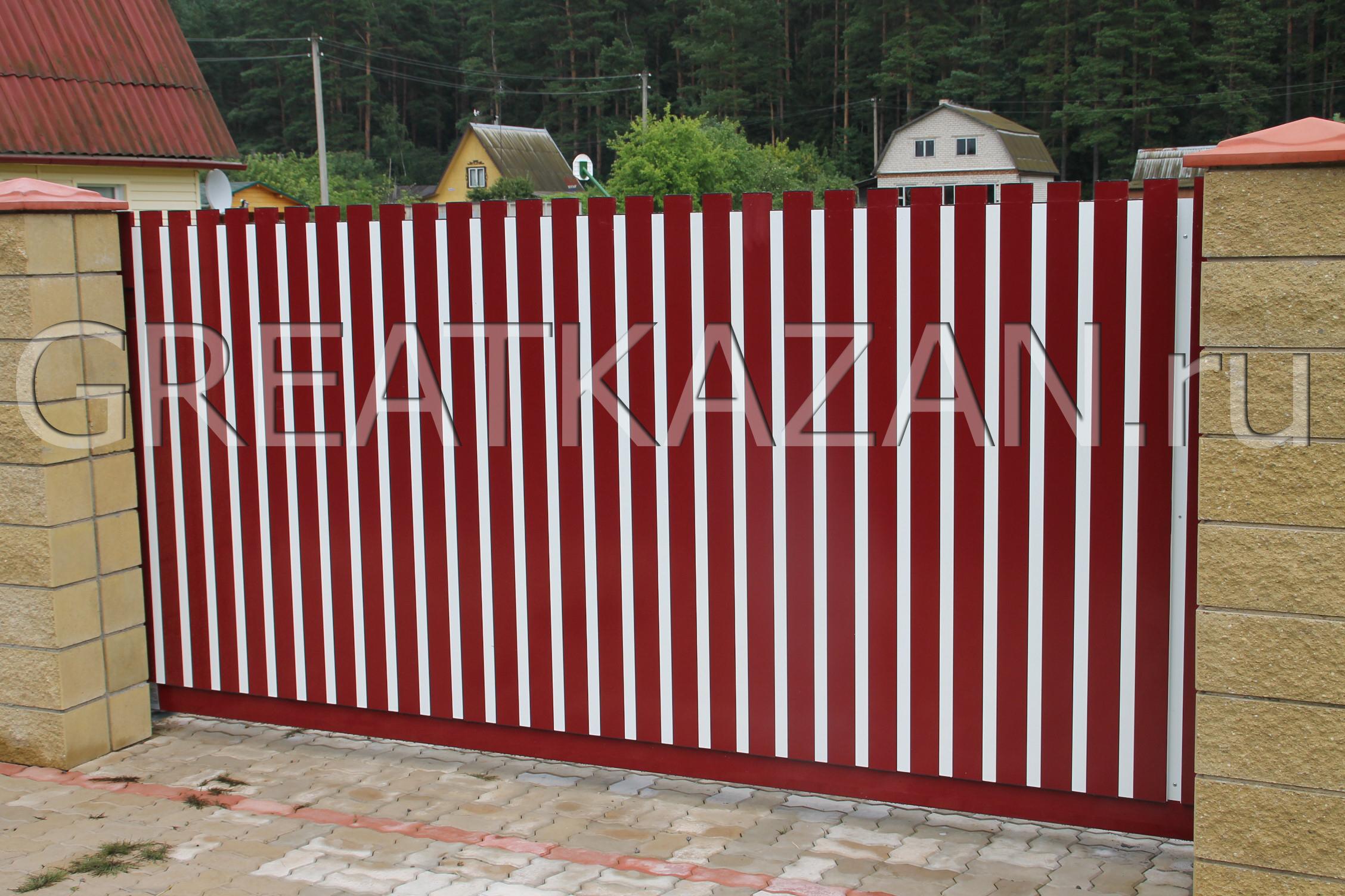 Ворота из алюминиевого профиля своими руками