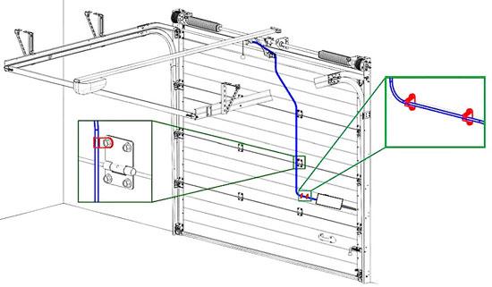 автоматические секционные ворота алютех установка электропривода